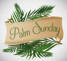 palm branches for palm sunday ancient scroll with palm branches for palm sunday