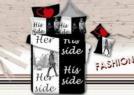 his and hers bed set black and white bedding set korean quilt duvet cover bed