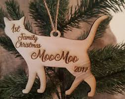 cat ornaments etsy