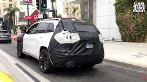 jeep box car 2018 jeep cherokee facelift spied on video driving in los angeles