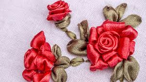 ribbon flowers ribbon flowers roses embroidery stitches by handiworks