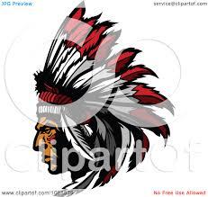 native american clipart chief head pencil and in color native
