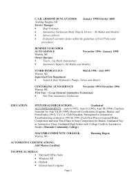 Automotive Technician Resume Sample by Steven Hazard Resume