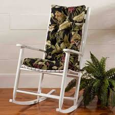 Rocking Chair Cushions For Nursery Alluring Rocking Chair Cushions Indoor And Cool Wood Rocking Chair