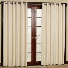 Patio Doors Curtains Grommet White Thermal Curtain Mixed Varnished Wooden