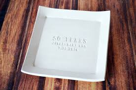 50th anniversary plate personalized 50th anniversary gift personalized plate with names date
