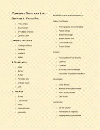 kids in mind easy camping shopping u0026 menu list kids in mind cabin camping
