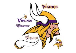 minnesota vikings home decor minnesota vikings logo wall decal shop fathead for minnesota