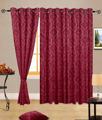 Single Window Curtain by Cortina Single Window Eyelet Curtain Contemporary Red Buy