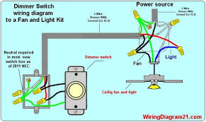 ceiling fan dimmer switch light kit wiring diagram how to