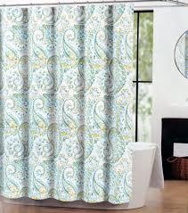 Teal Bird Curtains Bathroom Floral Pattern Fabric Shower Curtains Bird Theme Frame