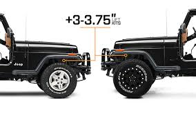 lift kits for jeep wrangler 1987 1995 jeep wrangler lift kits extremeterrain free shipping
