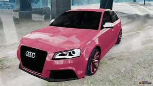 pink audi audi rs3 sportback typ 8pa for gta 4