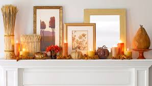 enchanting white fireplace mantle applying fall decorations ideas