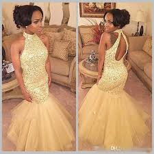 light yellow prom dresses 2018 light yellow mermaid prom dresses luxury sequined organza