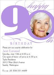 birthday invites captivating 90th birthday invitations design