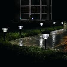 solar sidewalk lights led pathway lights white color design ideas