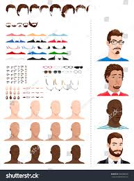 hairstyles for head shapes male avatars different ages head shapes stock vector 440288236