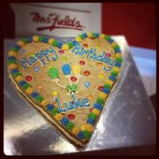 mrs fields cookie cakes afl hawks fans this is for you your own cookie cake thanks to