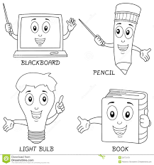 coloring learning characters royalty free stock images image