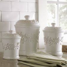 white ceramic kitchen canisters white ceramic kitchen canister sets ebay