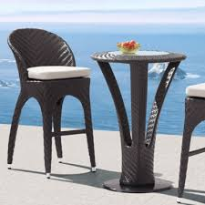 Patio Bar Tables Outdoor Bar Table And Chairs Set Outdoorlivingdecor
