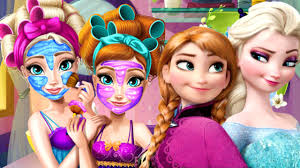 disney princess frozen college real makeover game dress up game