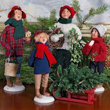 byers choice snow day collection carolers wooden duck shoppe