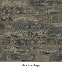 plum and gray faux brick wallpaper wallcovering