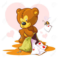 s day teddy card s day teddy and a letter royalty free