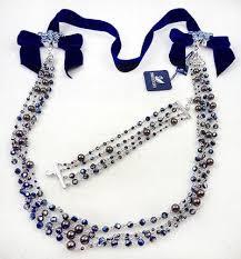 vintage necklace chains images Swarovski crystal chains blue velvet necklace bracelet set jpg