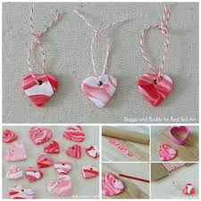 diy marbled polymer clay heart charms red ted art u0027s blog