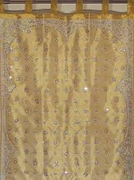 gold curtains sheer beaded zardozi window treatments for living