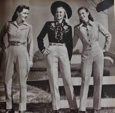 1930 1950s western wear for women and men