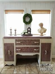 art deco waterfall buffet with french script prodigal pieces