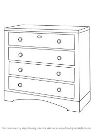 learn how to draw a chest of drawers furniture by