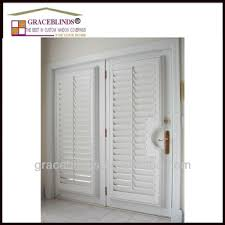 Decorative Wood Post 63 5mm Louver Z Frame With T Post Wood Plantation Shutter Buy