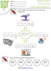 printable tri graph worksheets three letter blend phonics for kids