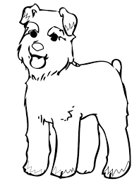 miniature schnauzer coloring page handipoints
