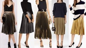 pleated skirts how to wear the gold pleated skirt fashion style mag