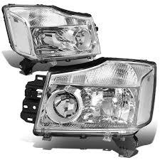 nissan titan headlight bulb 04 15 nissan titan 05 07 armada crstal headlights chrome clear