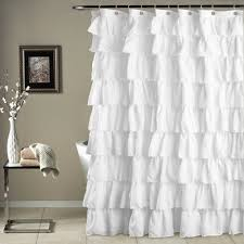 Ruffled Shower Curtains Would Be Even Better In Ruffled White Lace Ruffle Shower Curtain