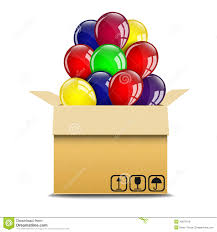 balloons in a box balloons in a box stock vector image 40871819
