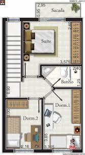 149 best plantas de casa images on pinterest architecture small sobrado 3 quartos 90 72m narrow housesims3 housecompact