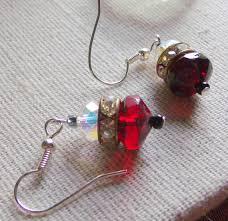 spacer earrings clear rhinestone spacer earrings festive dangle earrings
