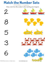 counting number sets u0026 matching free worksheet for preschoolers