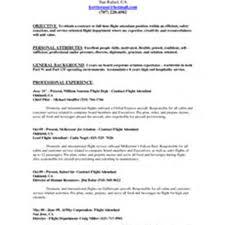 Resume Sample Flight Attendant Sample Resume For Flight Attendant With No Experience Resume For