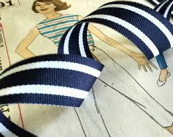 blue and white striped ribbon navy blue and white striped ribbon striped nautical ribbon