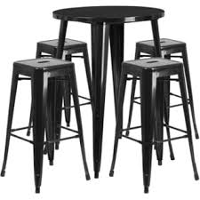 Outdoor Bar Table Set Metal Indoor Outdoor Bar Table Set With 2 Barstools Free