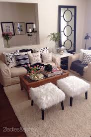 Pinterest Small Living Room Ideas Mar 2 2 Ladies Spring Home Tour Joan U0027s Home Stools Trays And Fur